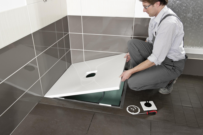 Dusche Einbauen Bodengleich : KALDEWEI: Douche de plain-pied Kaldewei : simplicit?, faible hauteur